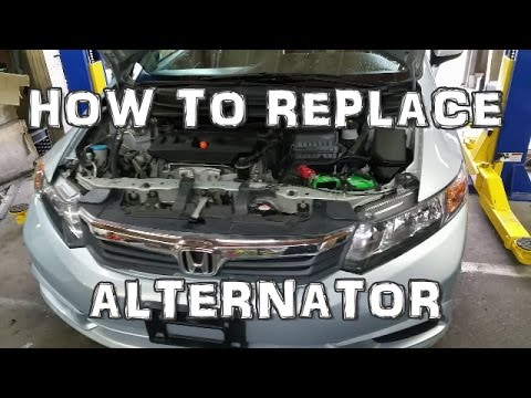 2012 Honda Civic Alternator Replacement Youtube