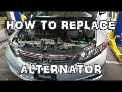 2012 Honda Civic Alternator Replacement - YouTube