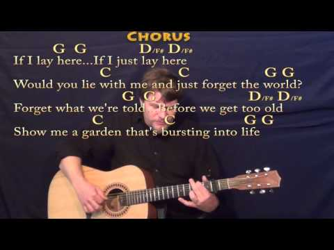 Chasing Cars - Fingerstyle Guitar Cover Lesson with Lyrics and Chords