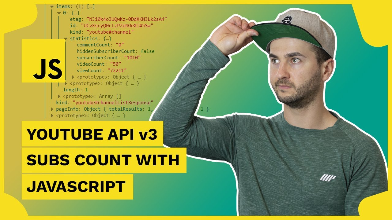 YouTube Data API Tutorial - Create a YouTube Subscriber Count with JavaScript
