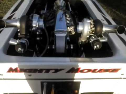 Twin turbo 5.3 at idle in a jet boat.