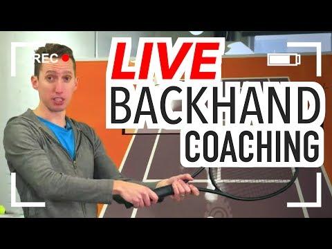 LIVE Tennis Coaching: BACKHAND Q&A