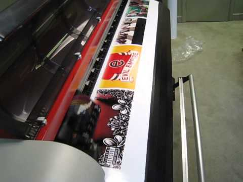 Printing music posters for customer