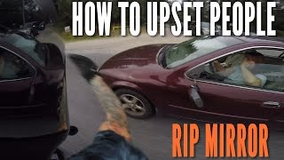 BIKER SMASHES MIRROR?! MaxWrist, Swarook + Bad drivers vs Motorcycle