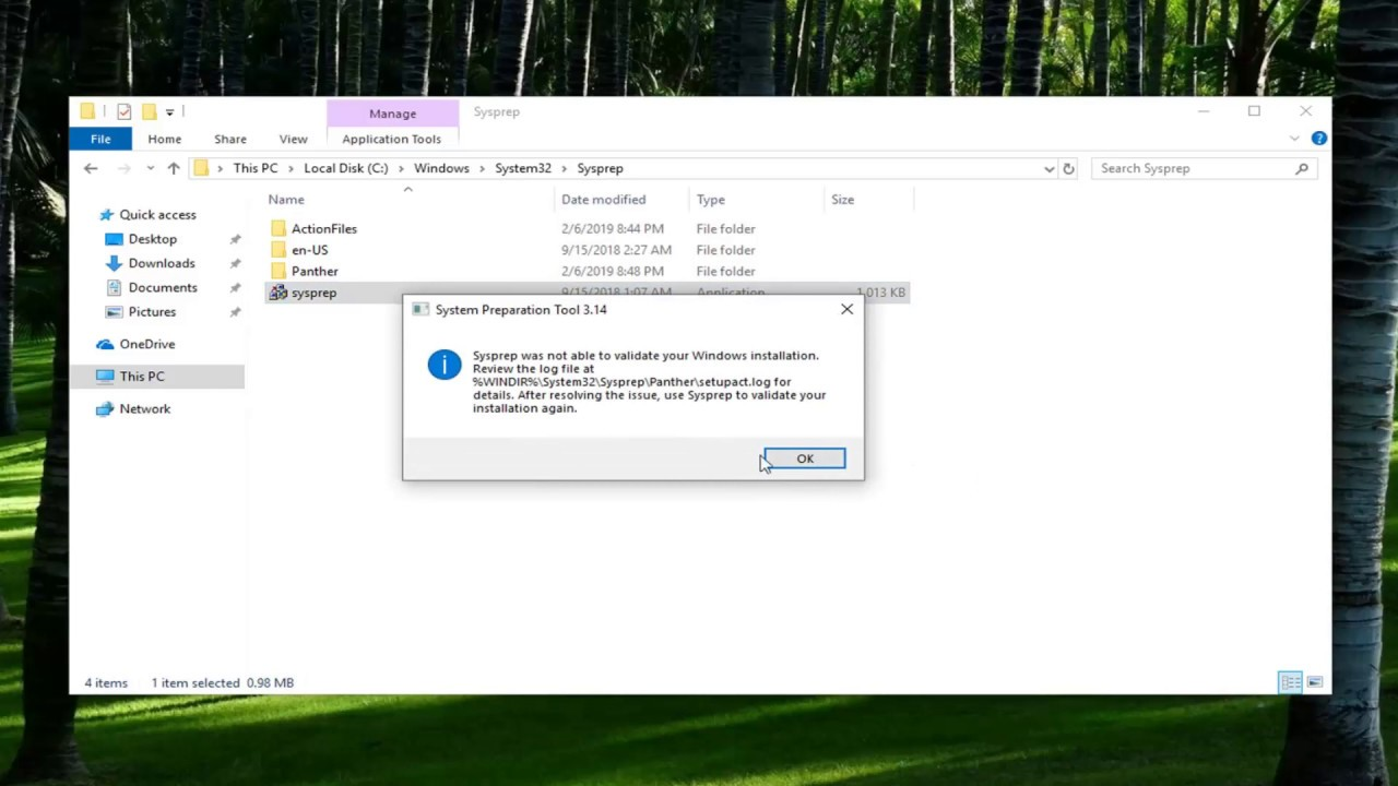 How To Use The System Preparation Tool (SYSPREP) In Windows 10/8/7  [Tutorial]