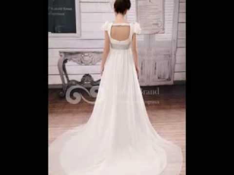 Train Natural Wedding Dress at www.grandgown.com