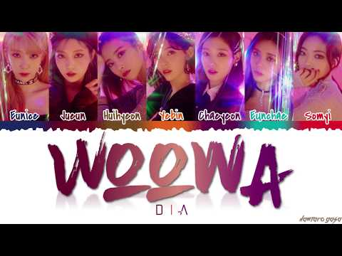 DIA - &39;WOOWA&39; 우와  Color CodedHanRomEng