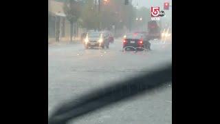 Heavy rains flood streets throughout region