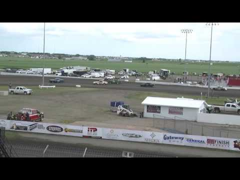 Red River Valley Speedway 06/17/2016 - IMCA Hobby Stocks Heat 2