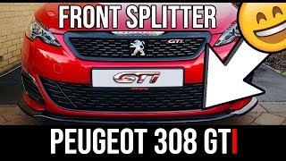 Installing Front Splitter: Peugeot 308 GTi