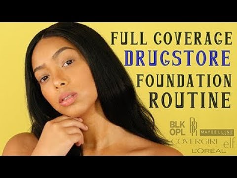 Flawless Full Coverage DRUGSTORE Foundation Routine | lrt beauty