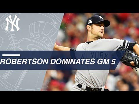 Robertson dominates in scoreless relief in ALDS Game 5