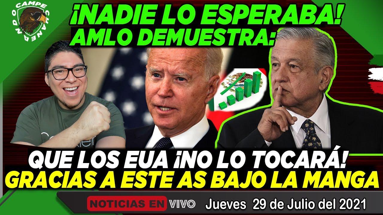 ¡NADIE ESPERABA ESTO! AMLO LE DEJA EN CLARO A LOS EUA ¡NO SE PASEN DE LISTOS CON MÉXICO! ¡VALIENTE!