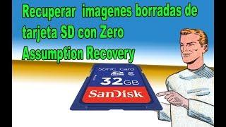 Recupera imagenes borradas de tarjeta SD con Zero Assumption Recovery - fácil 2019