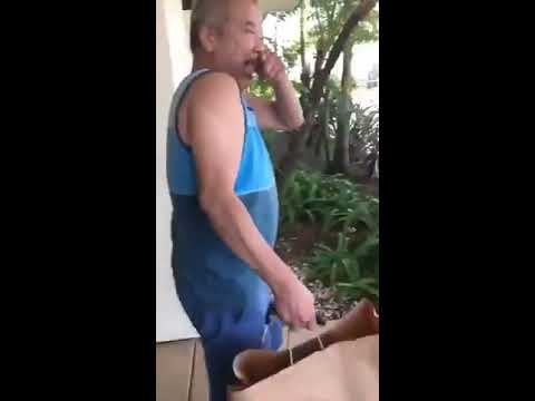 Daughter Repeatedly Scares Dad With Airhorn - 988117