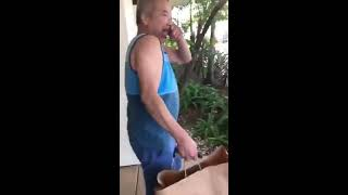 Daughter Repeatedly Scares Dad With Airhorn  988117