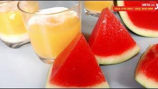 Cách làm thạch hoa quả thanh mát cho ngày hè