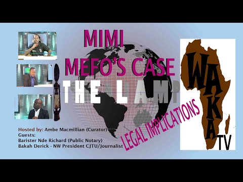 THE LAMP 12th Edition - Topic - LEGAL IMPLICATIONS AND THE INTERPRETATIONS OF THE LAW (MIMI's CASE).