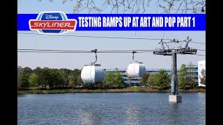 Disney Skyliner Gondola Testing Picks Up At Art of Animation and Pop Century Part 1