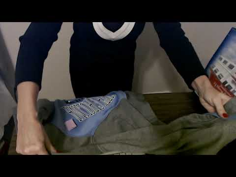 ASMR | Thrift Store Purchase | Folding Clothes (Soft Spoken)