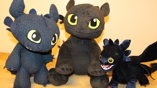Toothless - 3 Plush Dragons - How to Train Your Dragon 2 - Build-A-Bear