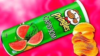 DIY - ВКУСНЫЕ ЧИПСЫ Pringles СО ВКУСОМ АРБУЗА ! СВОИМИ РУКАМИ !