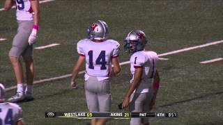 Jake Coker Touchdown Run - Westlake vs Akins 2014
