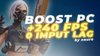BOOST BASICO PC (+240 fps / 0 imput lag) | NEURO
