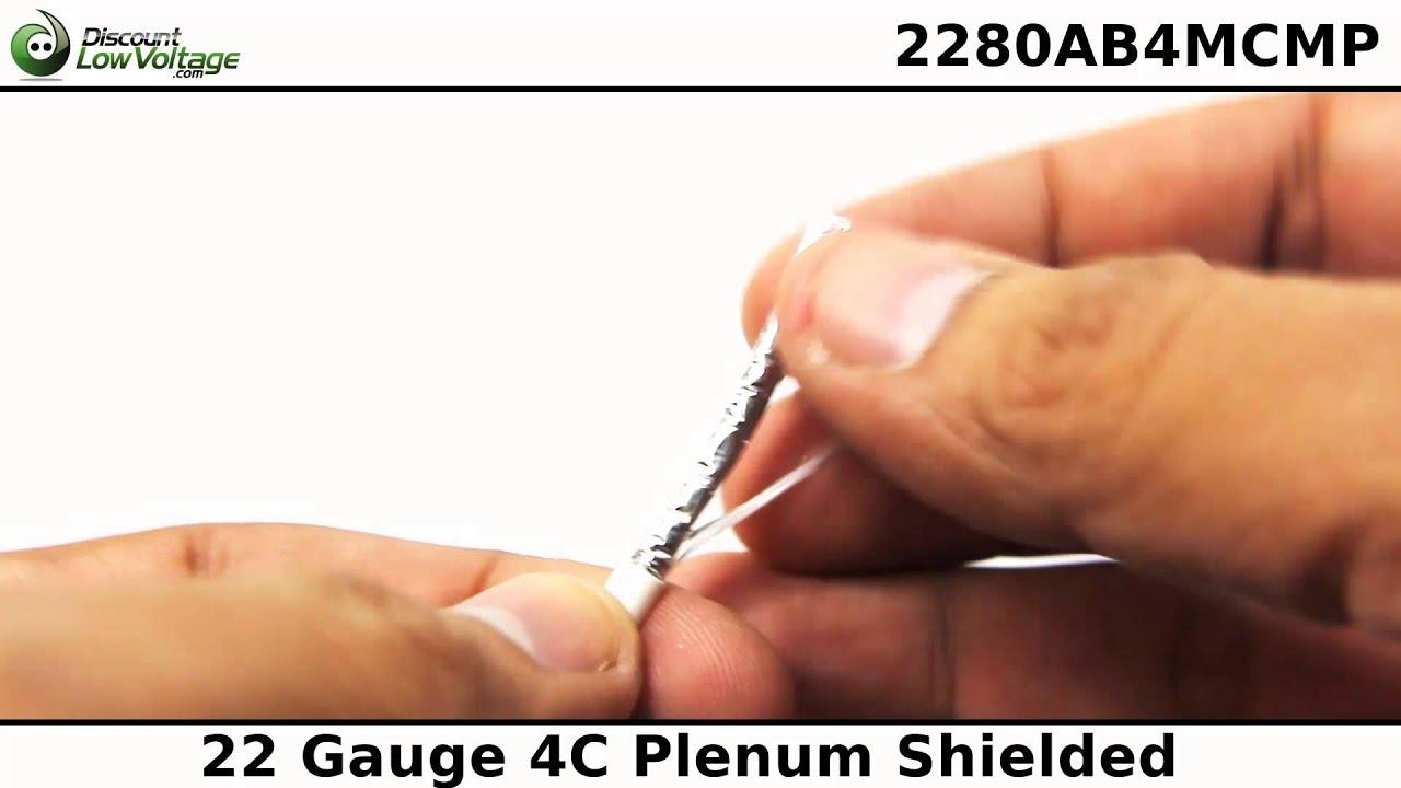 22 Gauge 4 Conductor Speaker Wire | Quick Video - YouTube