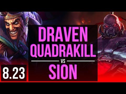 DRAVEN vs SION (TOP) (DEFEAT) | Quadrakill | Korea Diamond | v8.23