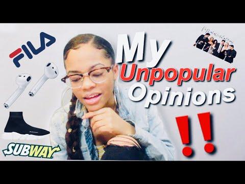 MY UNPOPULAR OPINIONS 2019