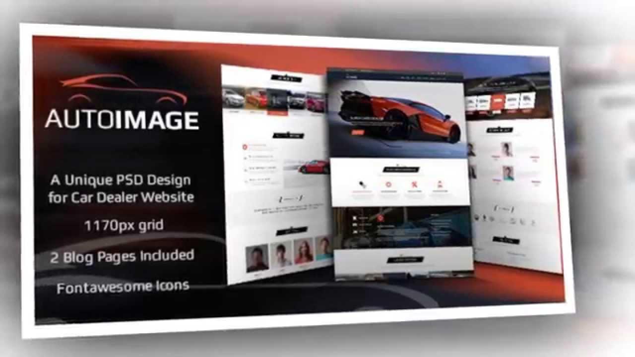 Auto Image HTML Template for Car Dealer Website - Video ServerThemes ...