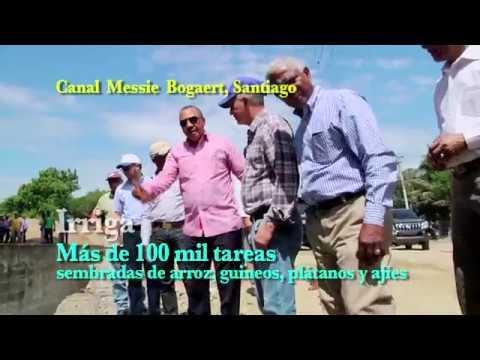 El INDRHI entrega rehabilitado el canal Monsieur Bogaert en Santiago