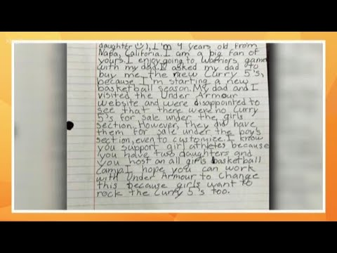 Girl writes Steph Curry about shoe options