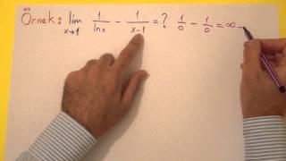 Türevin Limite Uygulanması - L Hospital Kuralı Şenol Hoca Matematik