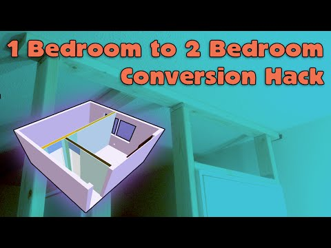 1 Bedroom to 2 Bedroom House Hack