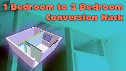 1 Bedroom to 2 Bedroom House Hack
