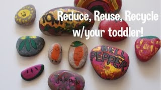 Reduce, Reuse, Recyle w/your toddler! Earth Day projects! Thumbnail
