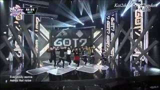[HD] 140116 GOT7 - Backstage ღ Intro + Follow Me ღ Girls Girls Girls ღ Encore [DEBUT M! Countdown]