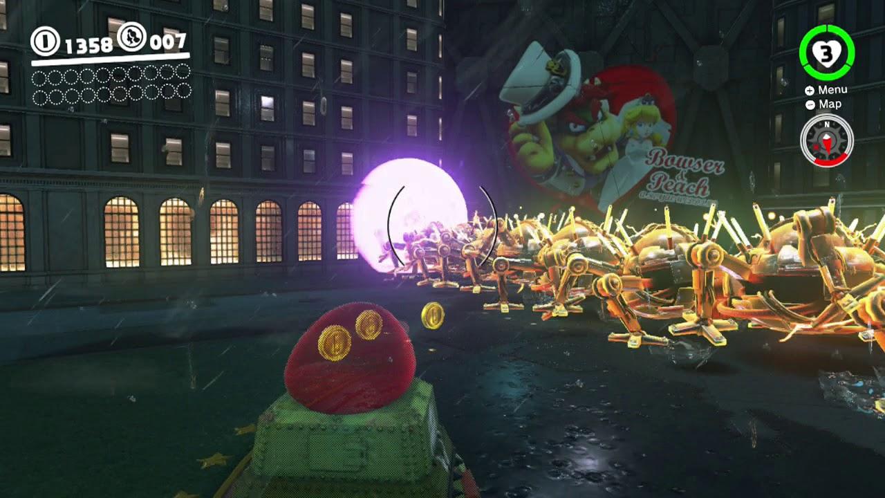 Super Mario Odyssey Boss 9 Mecha Wiggler Youtube
