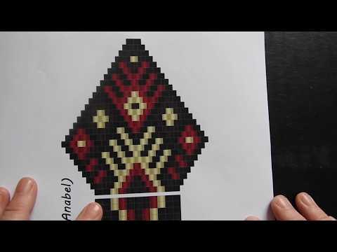Brick Stitch Earring Part 1