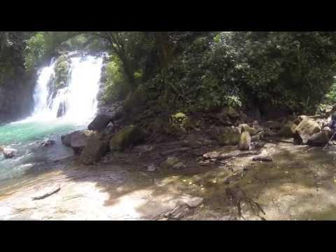 DJI Phantom at water fall at Costa Rica Nauyaca