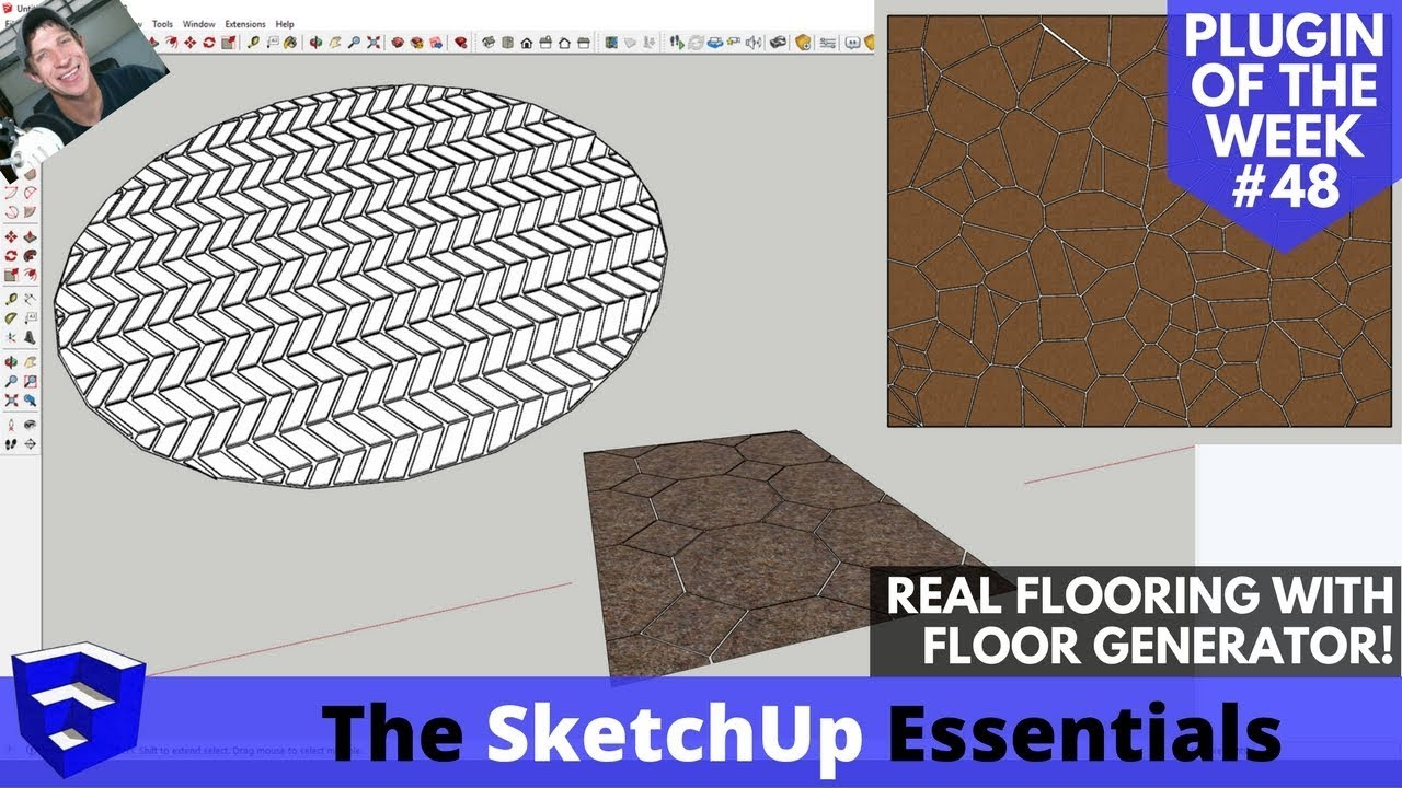 Create detailed flooring in SketchUp Fast with Floor