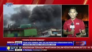 Belasan Kapal Nelayan Terbakar di Pelabuhan Muara Baru