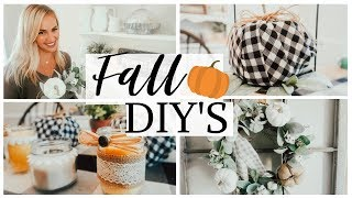 FALL DECOR DIY's (EASY!) 2019 🍁 FARMHOUSE STYLE FALL DECOR IDEAS🏡