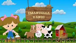 Convite fazendinha Emanuella 2 aninhos.