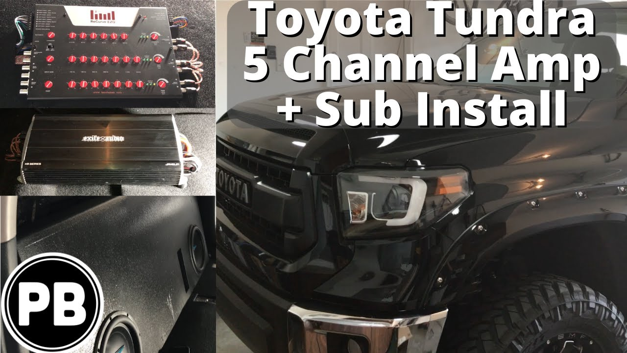 hight resolution of 2014 2018 toyota tundra 5 channel amp and sub install youtube 2014 tundra oem amp wiring diagram
