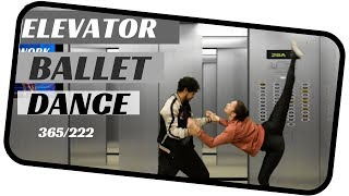 Ballet dance duet- trap in a elevator - dancing everyday 365 ballets- ballet duet 222