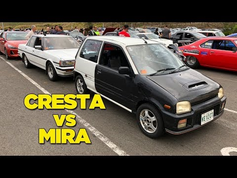 Kei Car vs Drag Car - [BARRA VS 3CYL BATTLE]