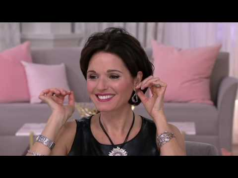 Sterling Silver Gemstone & Flowers Dangle Earrings by Or Paz on QVC